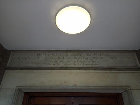 Memorial in Clare College
