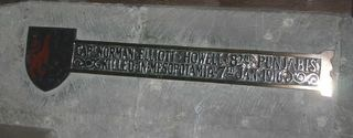Memorial plaque at SS Mary & Rhadegund, Whitwell