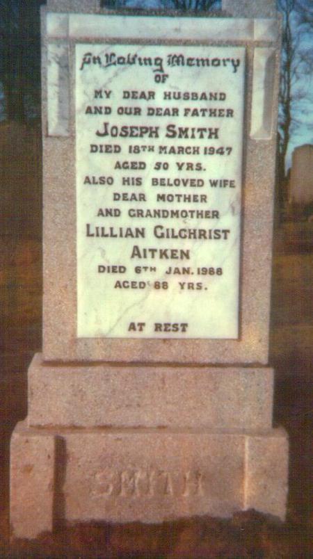 Joseph Smith gravestone 1947