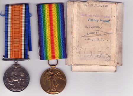Joseph Smith War Medals