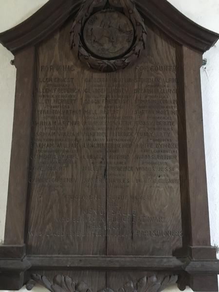 War memorial - Salle, Norfolk