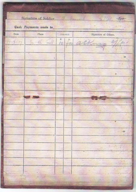Army Pay Book - Payments (2)