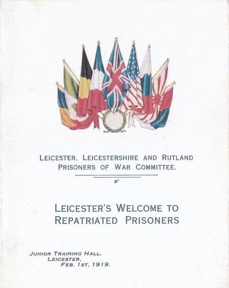 Leicester's Repatriated Prisoners - Invitation