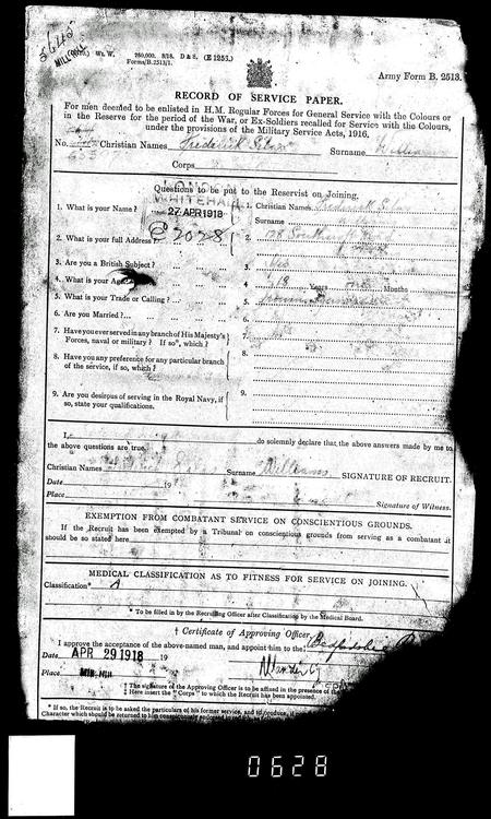 Attestation of Frederick Silas Williams