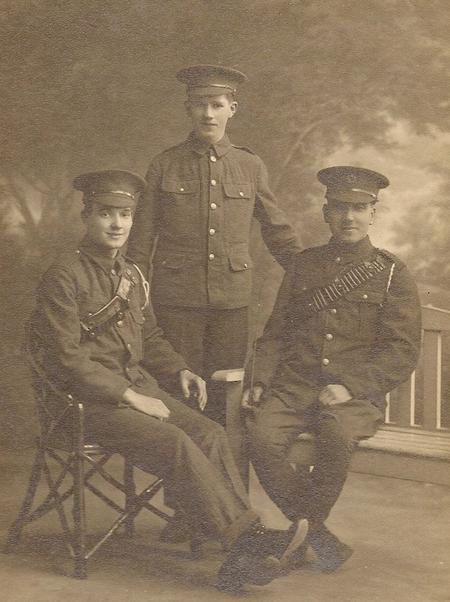 James (centre), William and Bill