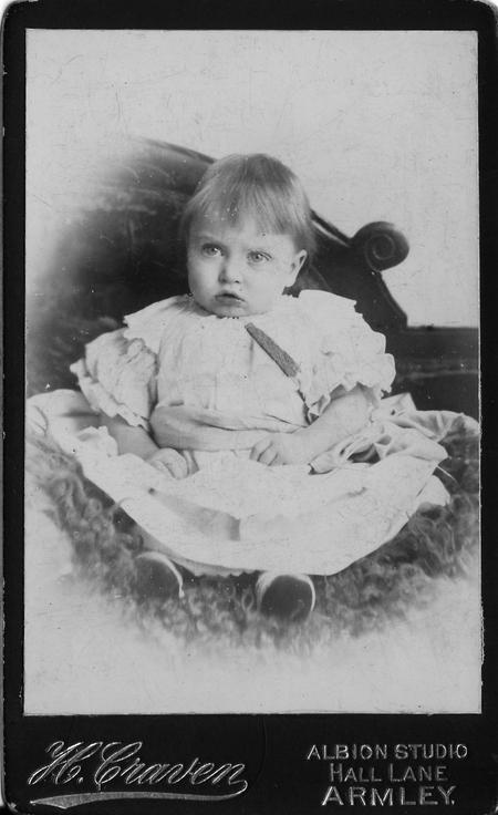 Charles Frederick Kelly as a baby