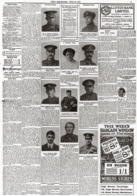 Kent Messenger June 23 1917