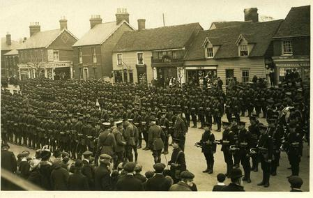 16th KRRC on parade Rayleigh, Essex