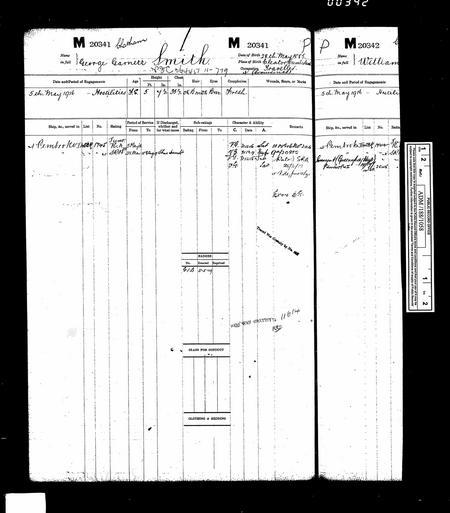 UK, Royal Navy Registers of Seamen's Services