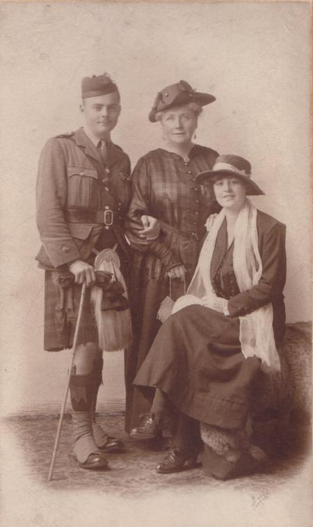 Barry Franklin Galbraith with mother & cousin