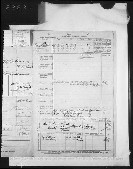World War I Service Record