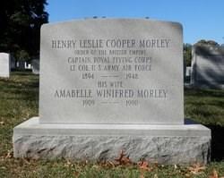 Gravestone of Henry Leslie Cooper Morley