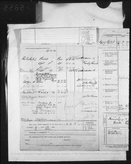 WWI Army Record