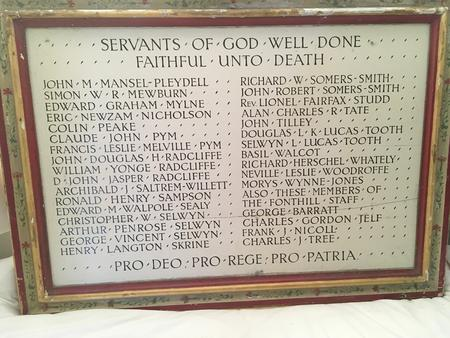 Fonthill Roll of Honour