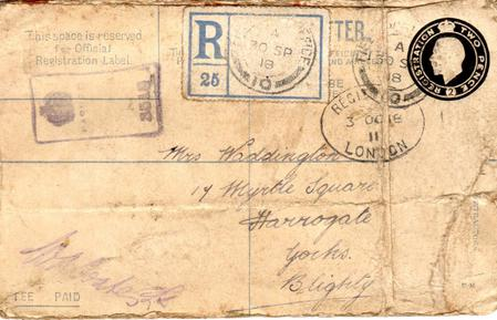 Registered envelope