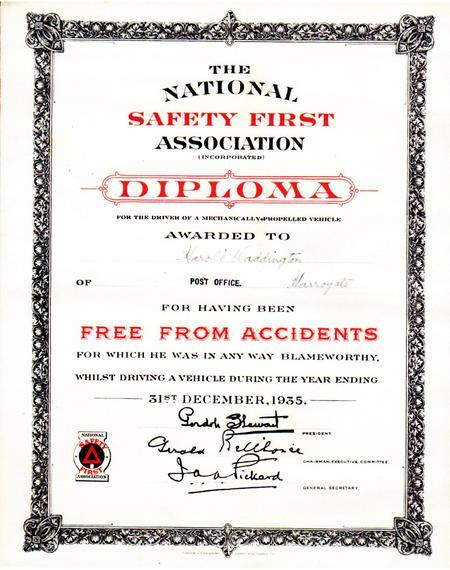Diploma, 1935