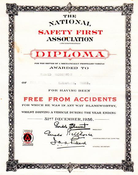 Diploma, 1936