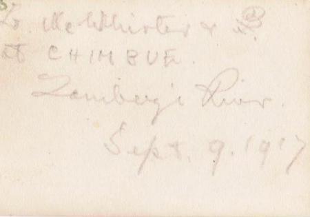 McWhirter & Galbraith at Chimbue, back