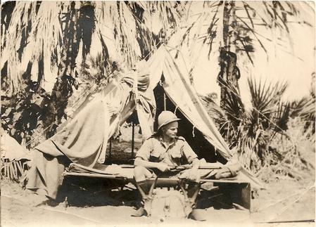 Barry F. Galbraith in African camp