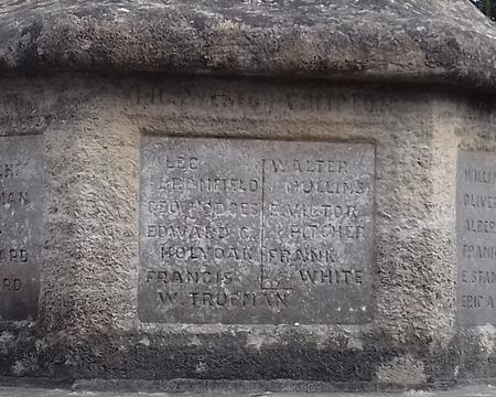 Henbury War Memorial - detail