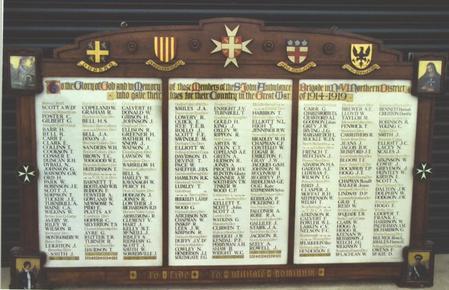 St John Ambulance Brigade No V1 District Memorial