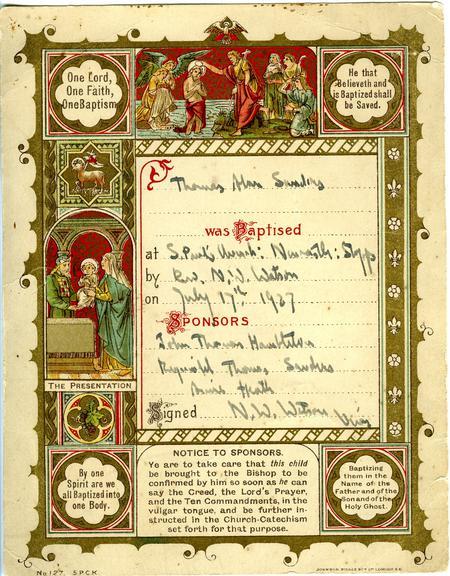 Sons Christening Card