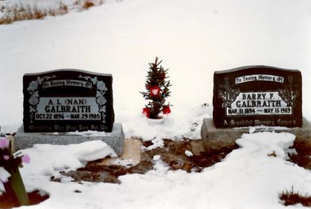 Barry and Nan Galbraith graves