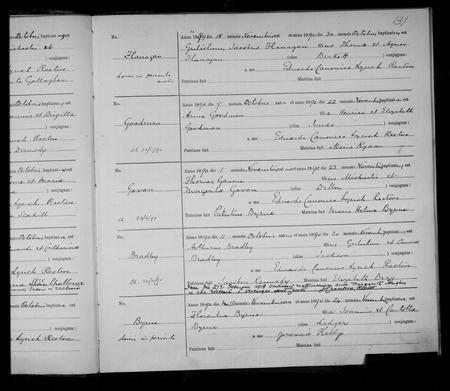Baptism Register 1890 St. Werburgh's, Chester
