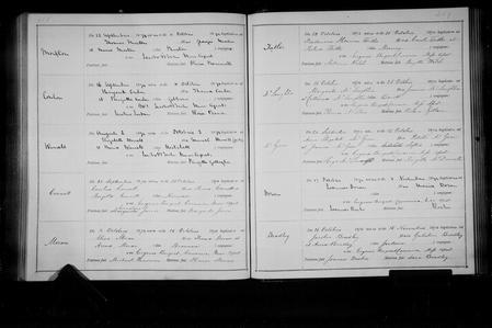 James Bradley baptism register 1874 St Werburgh