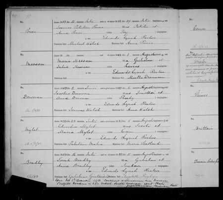 Sarah Bradley 1883 St Werburgh's, Chester