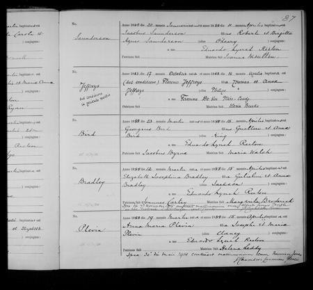 Elizabeth Josephina Bradley 1888 St Werburgh