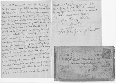 Mentioned in letter to Walter Bagshaw [page 3 & 4]