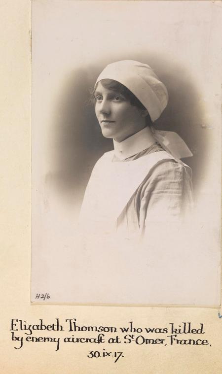 Portrait photograph of Elizabeth Thomson