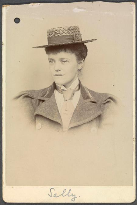 Portrait photograph of Sarah from the 1890s