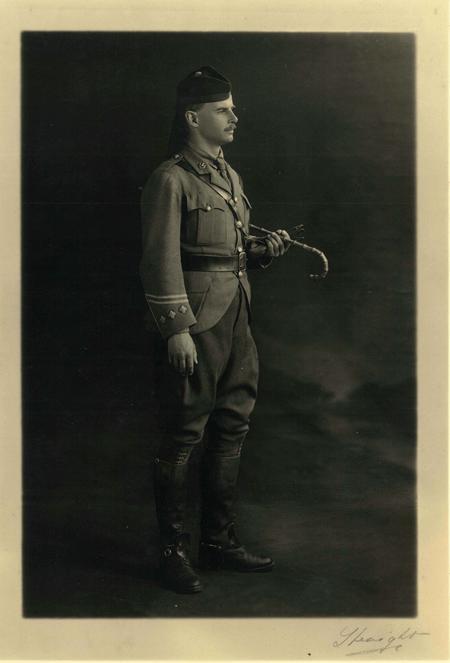 mililtary uniform studio portrait