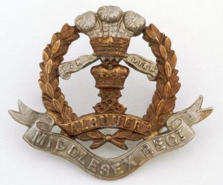 Middlesex Regiment cap badge