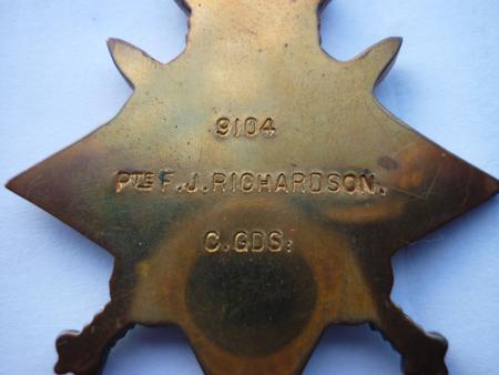 1914 Star - Reverse