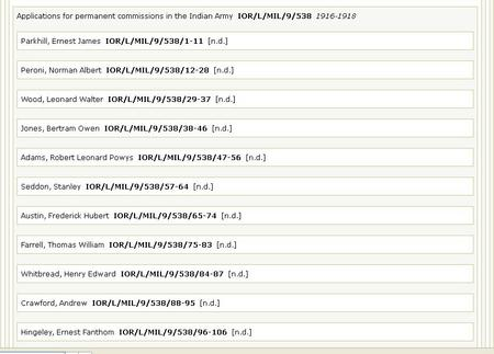National Archives search result screenshot