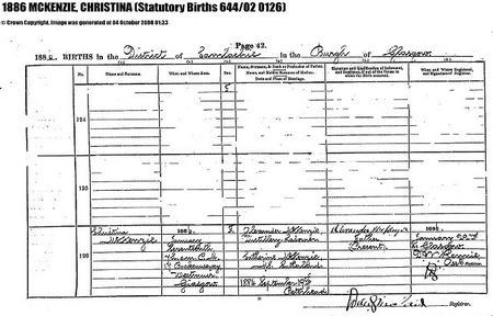 Birth of sister Christina