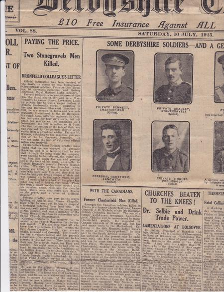 Section of Derbyshire Courier, 10 July 1915