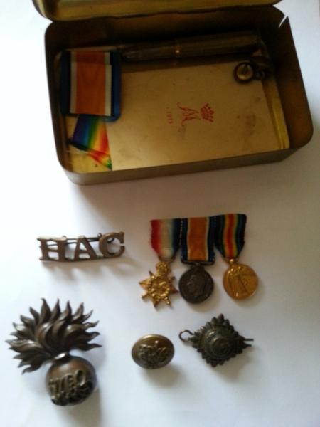 Medals and badges of my grandfather