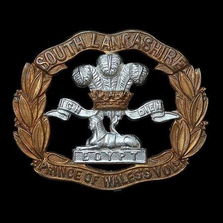 South Lancashire Regt cap badge