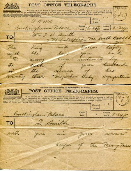 P.O. Telegraph death notification