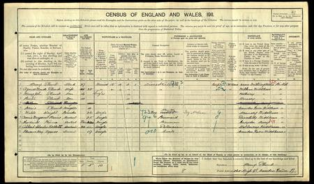 1911 census entry