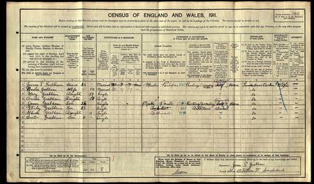 1911 Census Grabham family