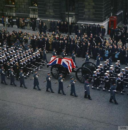 The state funeral of Sir Winston Churchill KG