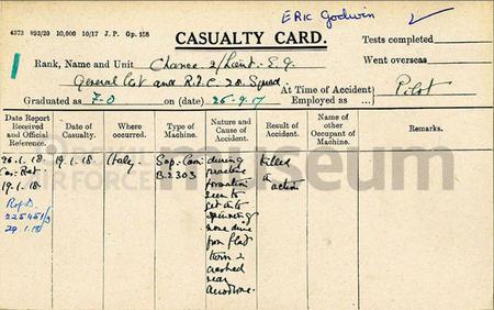R.F.C Casualty Card
