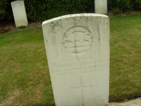 Shirley Greasley Grave Stone
