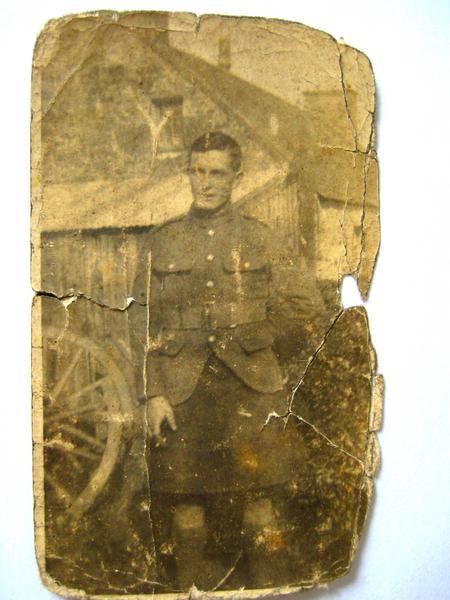 Isaac Fraser in uniform.
