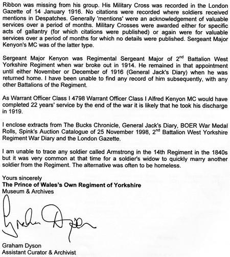 WYR Archivist letter p2